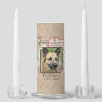 Forever Loved Angel Wings Pet Sympathy Custom Unity Candle Set