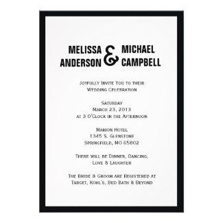 Formal Black & White Wedding Invitation