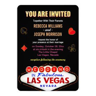 Las Vegas Wedding Theme Rsvp Cards