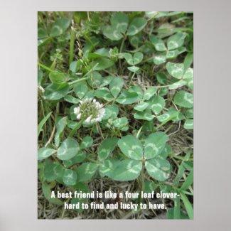 4 Leaf Clover Poster by S.Lynnette