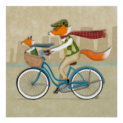 Fox Bike Ride Poster