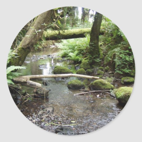 Fox Creek, Rainier, Oregon sticker