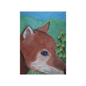 Fox Drawing by Julia Hanna