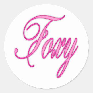 Foxy Pink Airbrush Round Stickers