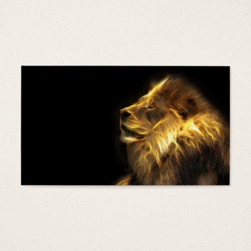 Fractal lion business card