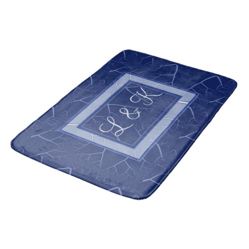 Fractured Blue Personalized Bathroom Mat