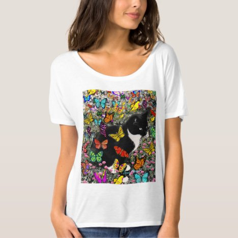 Freckles in Butterflies I, Tux Kitty Cat T-Shirt