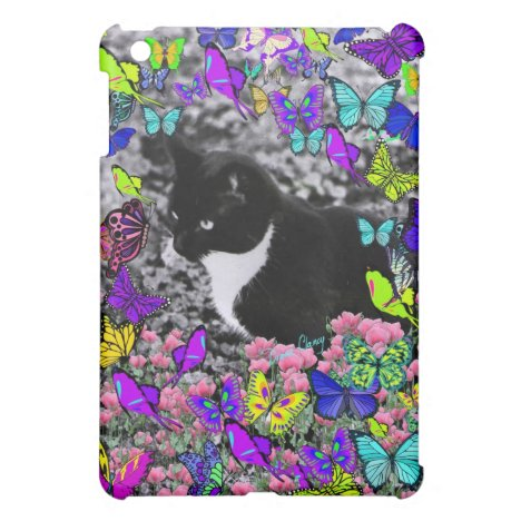 Freckles in Butterflies II - Tuxedo Cat Case For The iPad Mini