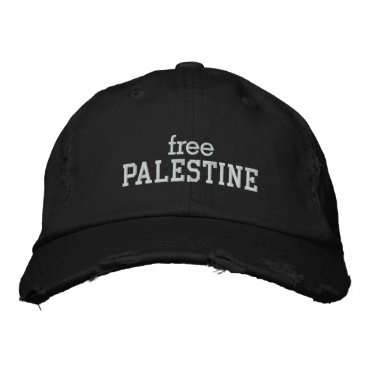 Free Palestine Embroidered Baseball Hat