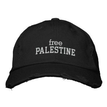 Free Palestine Embroidered Baseball Hat