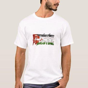 Free Palestine Retro Flag T-Shirt