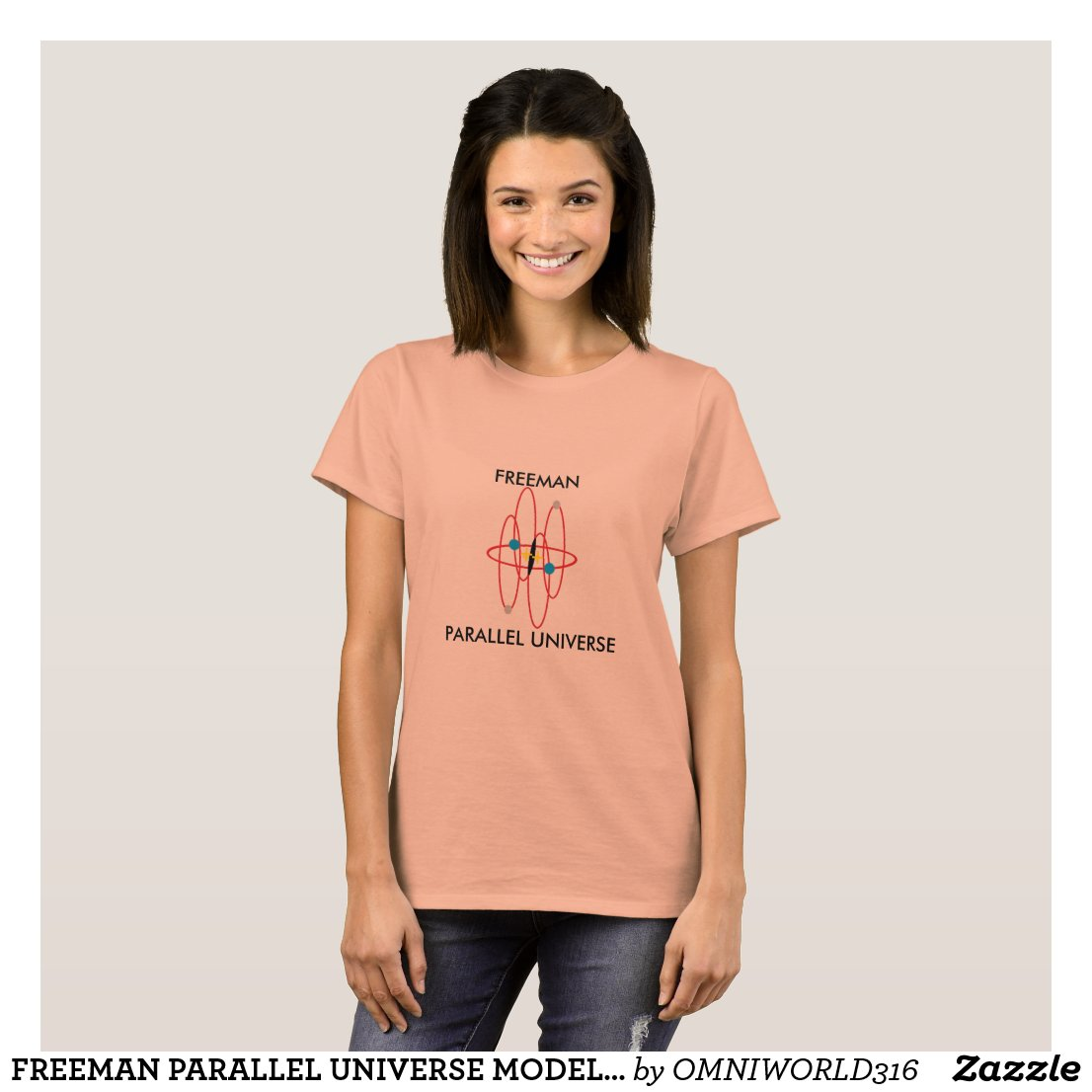 FREEMAN PARALLEL UNIVERSE MODEL TSHIRT
