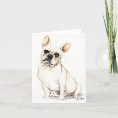 French Bulldog Dog Art Note Card