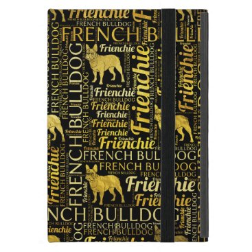 French Bulldog silhouette and word art pattern iPad Mini Cover