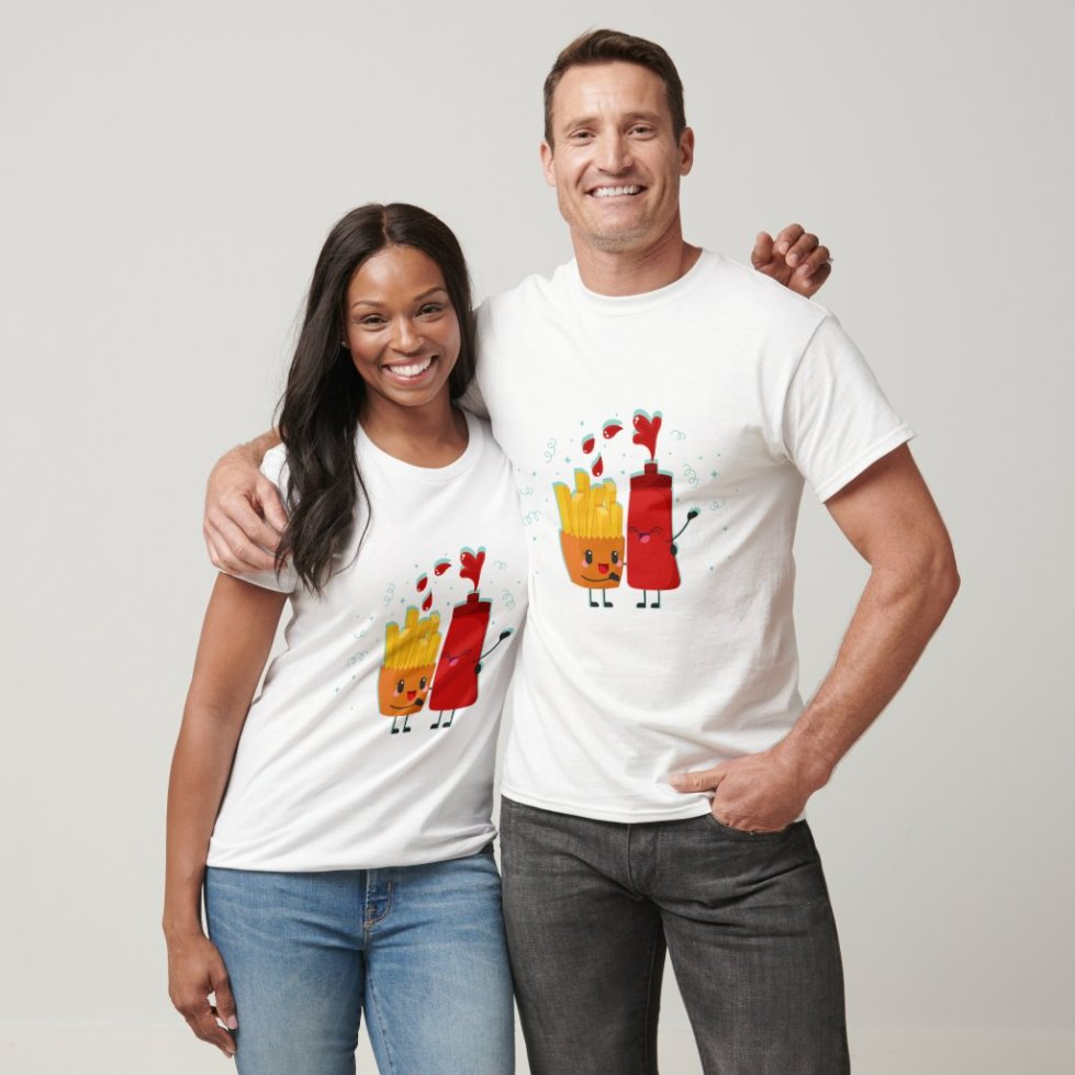 French Fries and Ketchup Best Friend T-Shirt