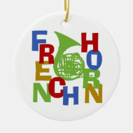 French Horn Christmas Tree Ornaments