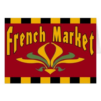 French Market New Orleans card
