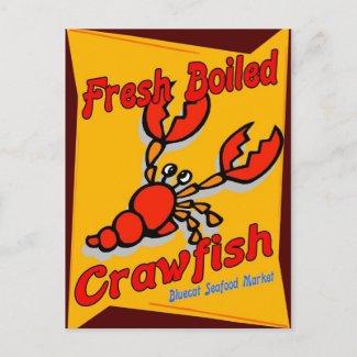 Fresh Boiled Crawfish postcard