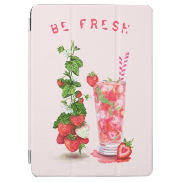 Fresh Strawberry Juice Cool Drink - Summer Fruits  iPad Air Cover