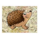 friendly hedgehog postcard