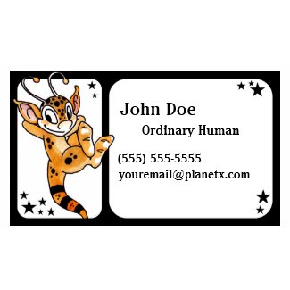 Friendly Orange Alien Business Card