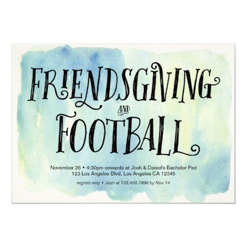 Friendsgiving and Football Dinner Invitation