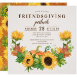 Friendsgiving Dinner Potluck Sunflower Pumpkin Invitation