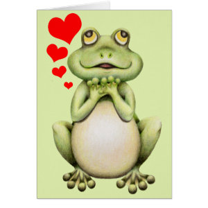 Frog Love Drawing Greeting Card