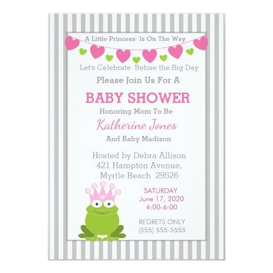 Frog Princess Baby Shower Invitation
