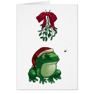 Frog Under Mistletoe