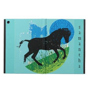 Frolicking Horse Design iPad Case