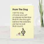 ❤️ From The Dog - a funny happy birthday poem Card