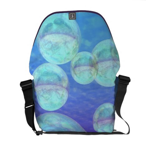 Frosty Clarity –- Azure Beauty & Indigo Depth Messenger Bag