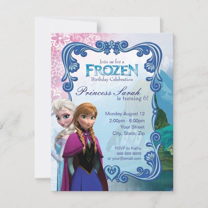 frozen birthday party invitation zazzle com