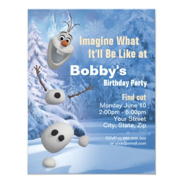Frozen Olaf | In Pieces Birthday Party Invitation