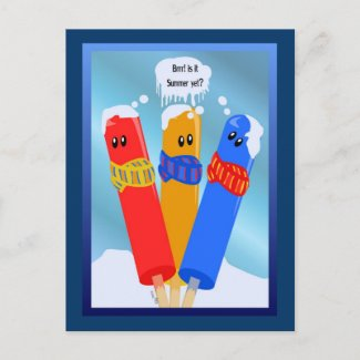 Frozen Popcicles' Summer Postcard postcard