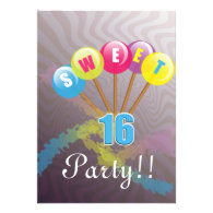 fun birthday invite for sweet 16