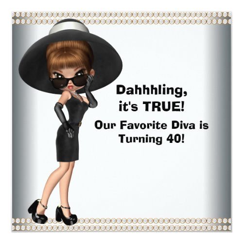 Fun Favorite Diva Womans Any Number Birthday Party Card