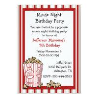 Fun Popcorn Birthday Party Invitation