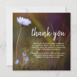 ❤️ Simple Sweet Daisy Funeral Sympathy Thank You Card