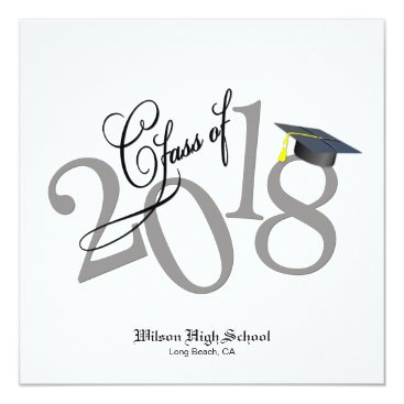 Funky Class of 2018 Graduation Invitation
