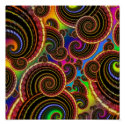 Funky Rainbow Swirl Fractal Art Pattern zazzle_print