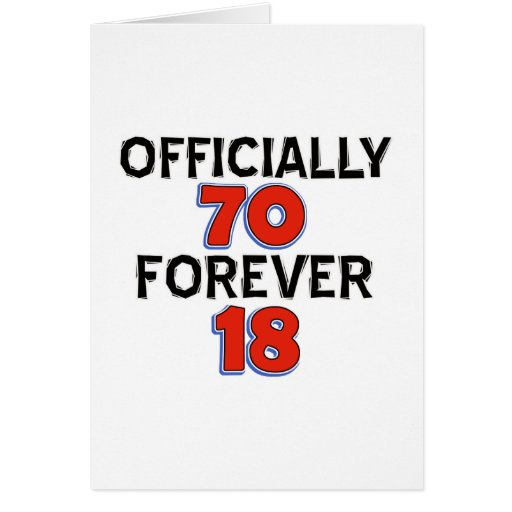 Funny 70 Year Old Designs Card Zazzle