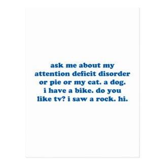 Funny ADD ADHD Quote - Blue Print