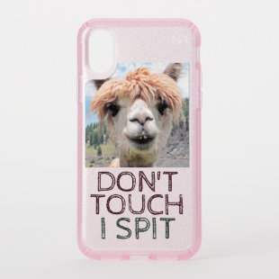 Funny Alpaca Llama Don't Touch I Spit Speck iPhone X Case