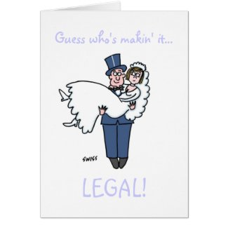 Funny Lawyer Wedding Save Date
