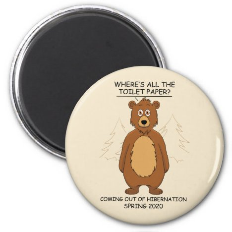 Funny Bear Cartoon Magnet