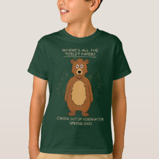 Funny Bear Out of Hibernation Cartoon Dark T-Shirt