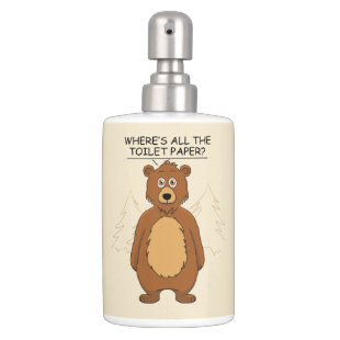 Funny Bear out of Toilet Paper Bath Set