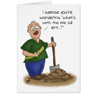Funny Birthday Cards: Older than Dirt